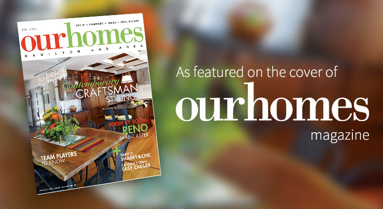 As featured on the cover of Our Homes Magazine